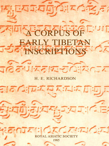 A Corpus of Early Tibetan Inscriptions book cover