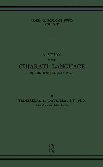 A Study of the Gujarati Language in the XVth Century book cover