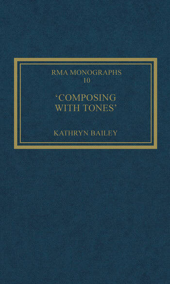 'Composing with Tones' A Musical Analysis of Schoenberg's Op.23 Pieces for Piano book cover