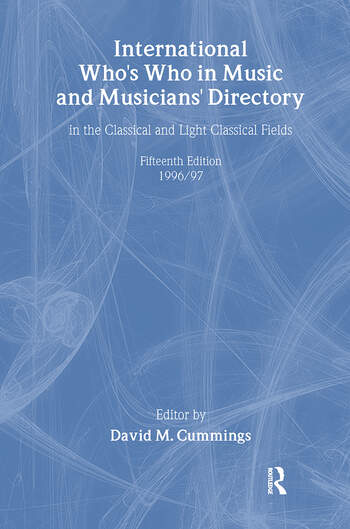 Intl Whos Who Music&Ency Ed15 book cover