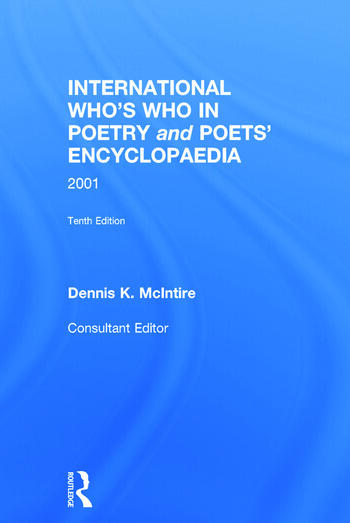 International Who's Who In Poetry and Poets' Encyclopaedia book cover