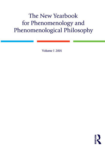 The New Yearbook for Phenomenology and Phenomenological Philosophy Volume 1 book cover