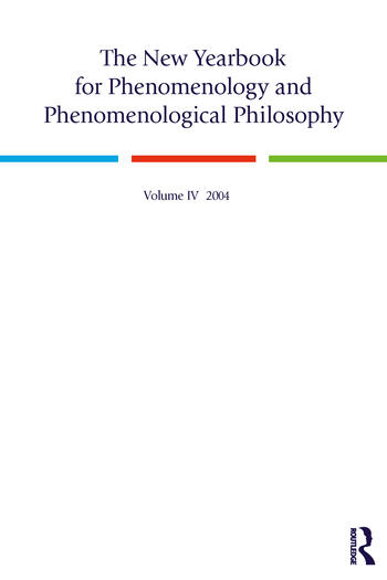 The New Yearbook for Phenomenology and Phenomenological Philosophy Volume 4 book cover