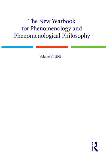 The New Yearbook for Phenomenology and Phenomenological Philosophy Volume 6 book cover