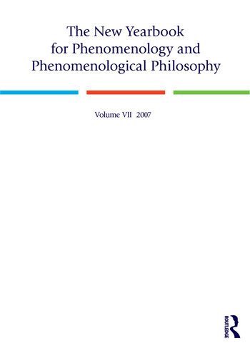 The New Yearbook for Phenomenology and Phenomenological Philosophy Volume 7 book cover
