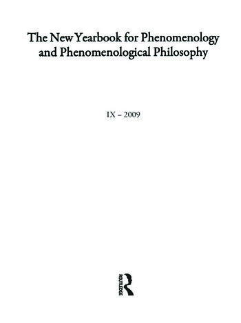 The New Yearbook for Phenomenology and Phenomenological Philosophy Volume 9, Special Issue book cover