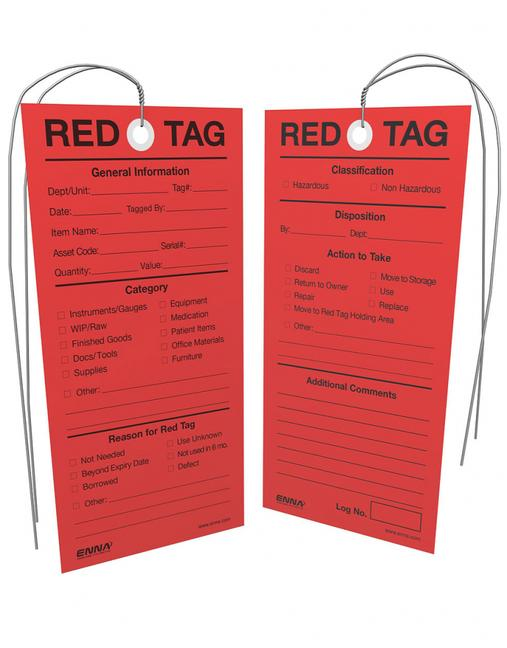 5S Red Tags book cover