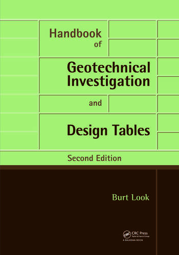 Handbook of Geotechnical Investigation and Design Tables Second Edition book cover