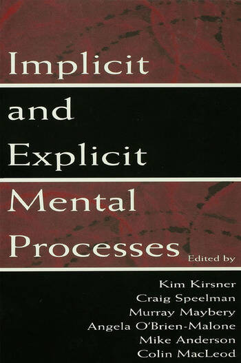 Implicit and Explicit Mental Processes book cover