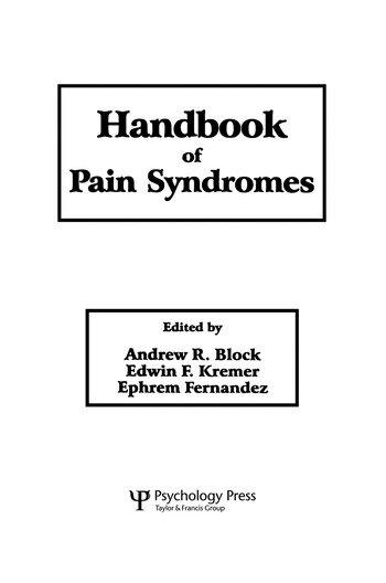 Handbook of Pain Syndromes Biopsychosocial Perspectives book cover