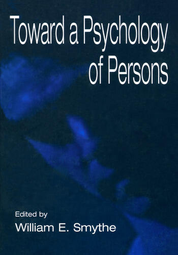 Toward A Psychology of Persons book cover