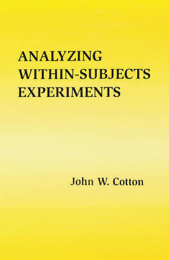 Analyzing Within-subjects Experiments book cover