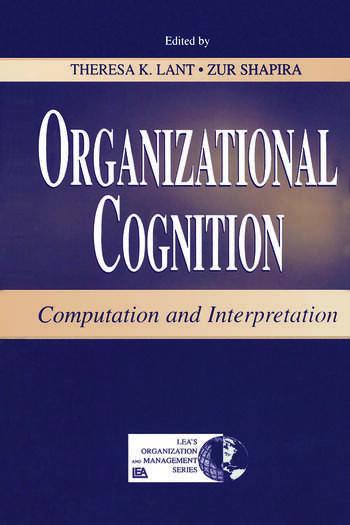 Organizational Cognition Computation and Interpretation book cover