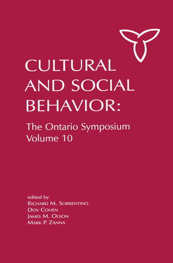 Culture and Social Behavior The Ontario Symposium, Volume 10 book cover