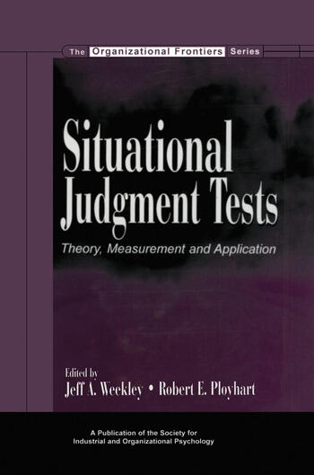 Situational Judgment Tests Theory, Measurement, and Application book cover