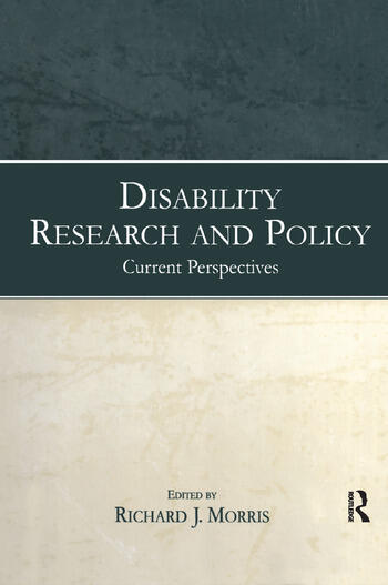 Disability Research and Policy Current Perspectives book cover