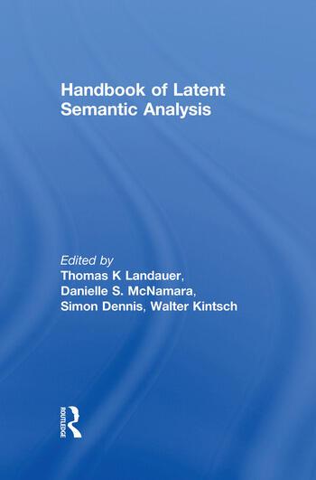 Handbook of Latent Semantic Analysis book cover