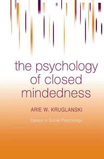 The Psychology of Closed Mindedness book cover
