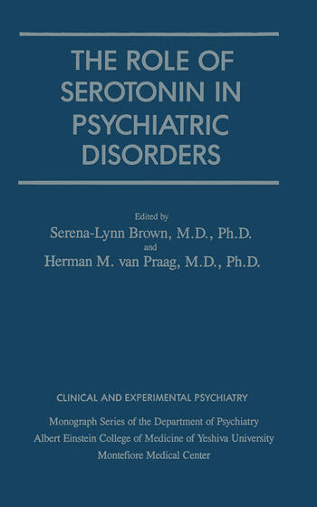 Role Of Serotonin In Psychiatric Disorders book cover