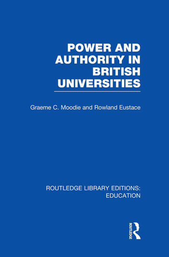 Power & Authority in British Universities book cover