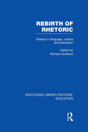 Rebirth of Rhetoric book cover