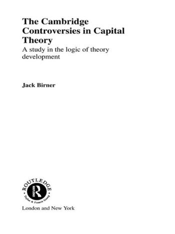 Cambridge Controversies in Capital Theory A Methodological Analysis book cover