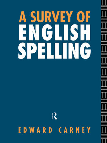 A Survey of English Spelling book cover