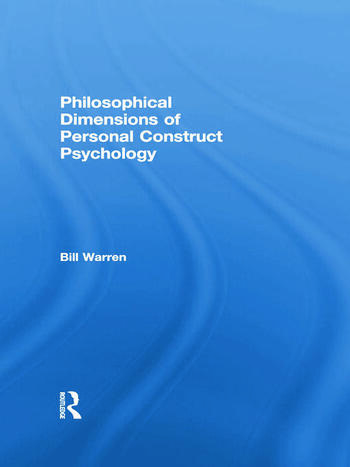 Philosophical Dimensions of Personal Construct Psychology book cover