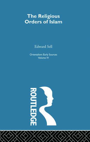 Relig Ord Islam:Orientalsm V 4 book cover