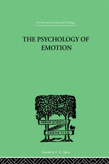The Psychology of Emotion Morbid and Normal book cover
