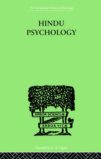 Hindu Psychology Its Meaning for the West book cover