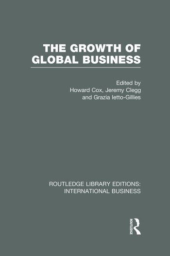 The Growth of Global Business (RLE International Business) book cover