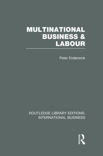 Multinational Business and Labour (RLE International Business) book cover