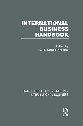 International Business Handbook (RLE International Business) book cover