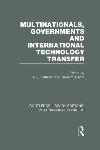 Multinationals, Governments and International Technology Transfer (RLE International Business) book cover