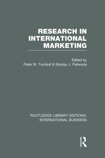 Research in International Marketing (RLE International Business) book cover