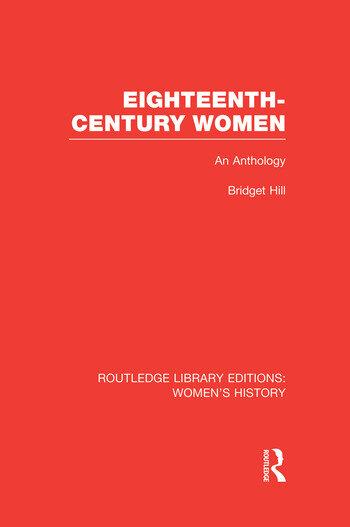 Eighteenth-century Women An Anthology book cover
