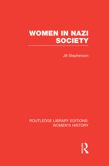Women in Nazi Society book cover