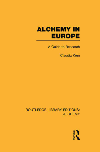 Alchemy in Europe A Guide to Research book cover