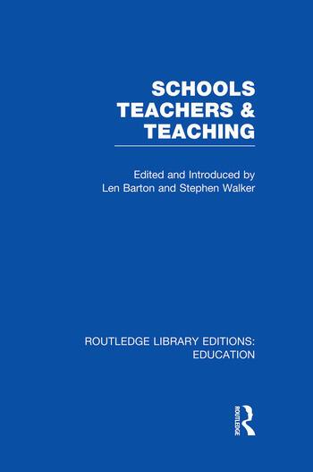Schools, Teachers and Teaching (RLE Edu N) book cover