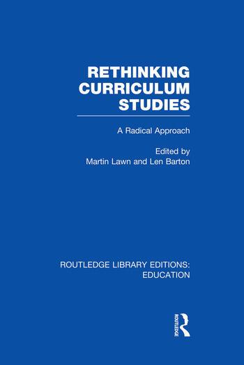 Rethinking Curriculum Studies book cover