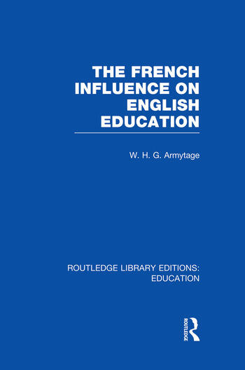 French Influence on English Education book cover