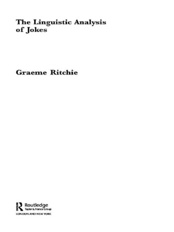 The Linguistic Analysis of Jokes book cover