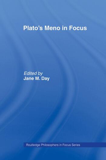 Plato's Meno In Focus book cover