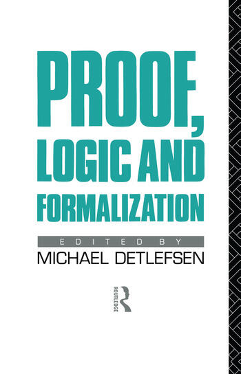 Proof, Logic and Formalization book cover