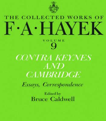 Contra Keynes and Cambridge Essays, Correspondence book cover