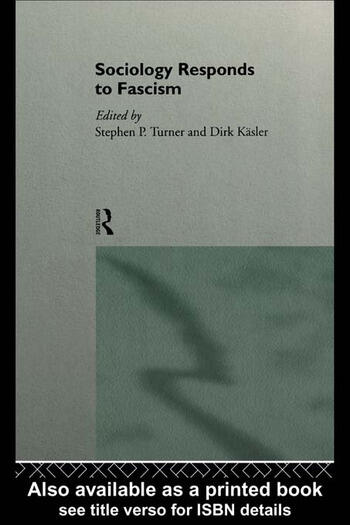 Sociology Responds to Fascism book cover