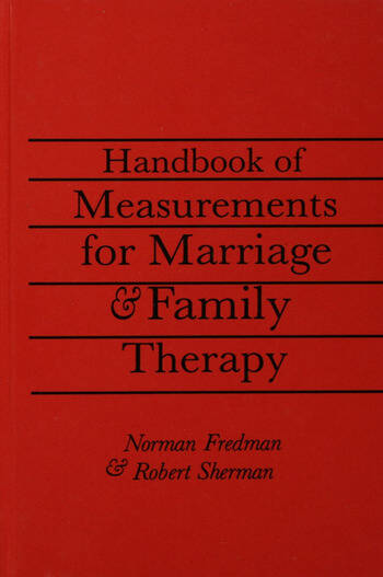 Handbook Of Measurements For Marriage And Family Therapy book cover