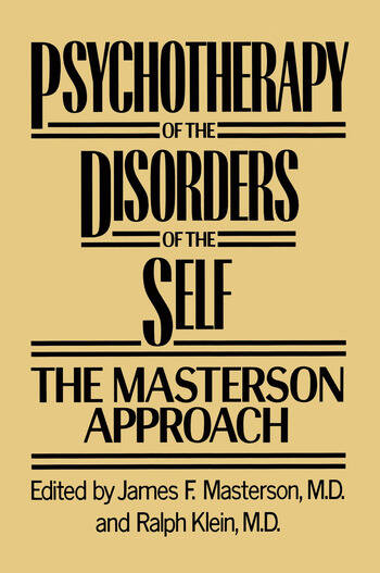 Psychotherapy of the Disorders of the Self book cover