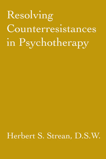 Resolving Counterresistances In Psychotherapy book cover